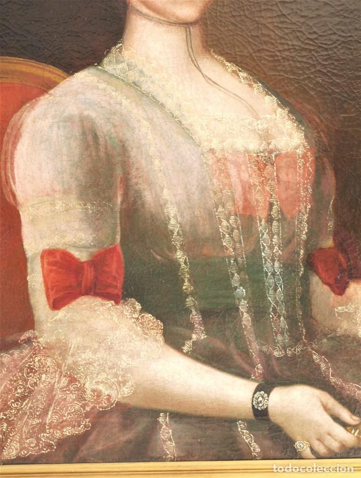 Arte: Cuadro antiguo de pintura al óleo sobre lienzo. - Foto 4 - 272862628