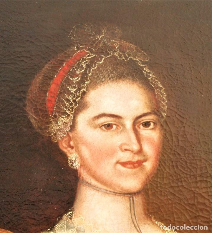 Arte: Cuadro antiguo de pintura al óleo sobre lienzo. - Foto 5 - 272862628