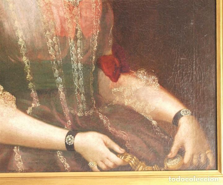 Arte: Cuadro antiguo de pintura al óleo sobre lienzo. - Foto 6 - 272862628