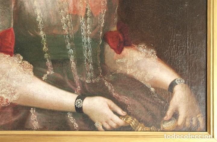 Arte: Cuadro antiguo de pintura al óleo sobre lienzo. - Foto 7 - 272862628