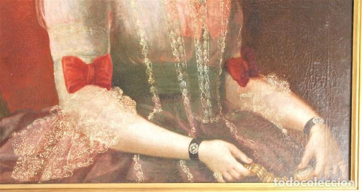 Arte: Cuadro antiguo de pintura al óleo sobre lienzo. - Foto 8 - 272862628