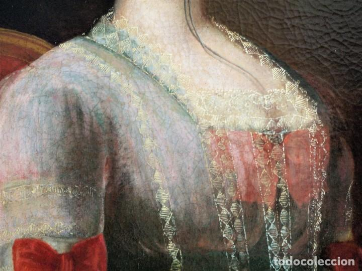 Arte: Cuadro antiguo de pintura al óleo sobre lienzo. - Foto 9 - 272862628