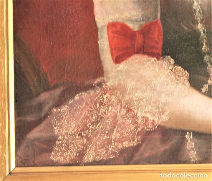 Arte: Cuadro antiguo de pintura al óleo sobre lienzo. - Foto 10 - 272862628