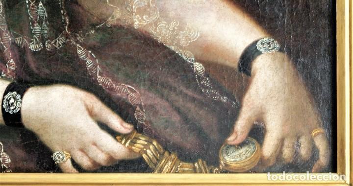 Arte: Cuadro antiguo de pintura al óleo sobre lienzo. - Foto 11 - 272862628