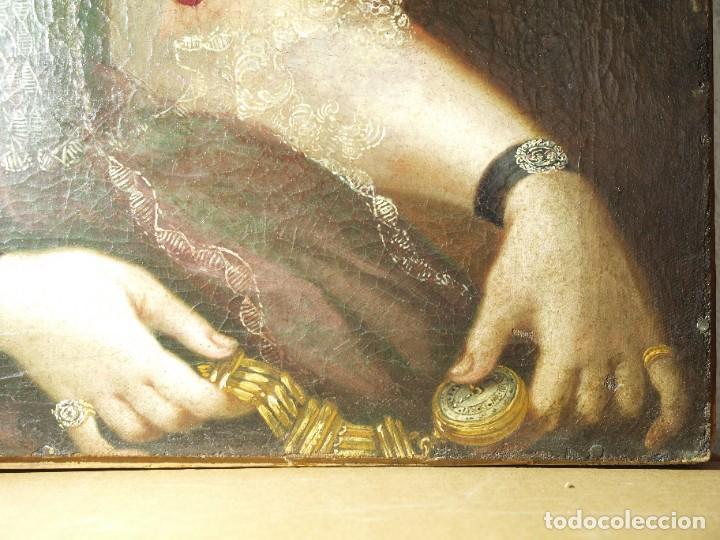 Arte: Cuadro antiguo de pintura al óleo sobre lienzo. - Foto 12 - 272862628