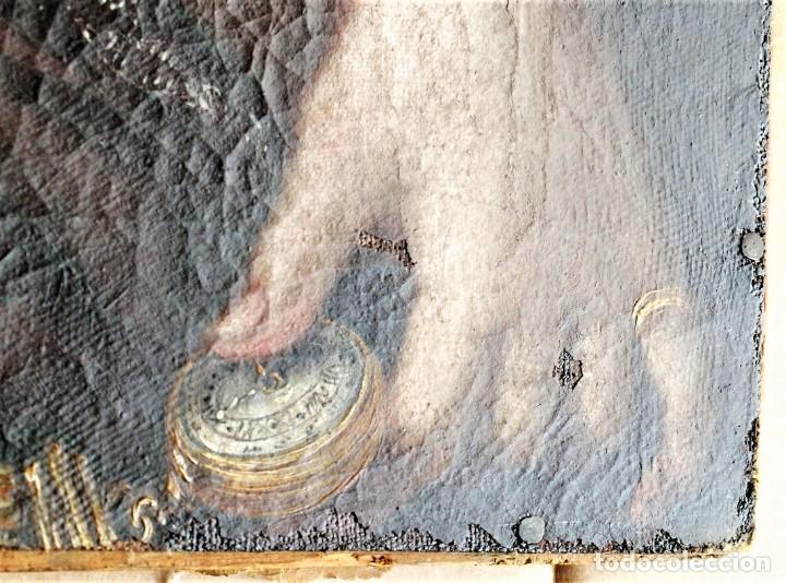 Arte: Cuadro antiguo de pintura al óleo sobre lienzo. - Foto 13 - 272862628