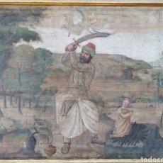 Arte: SARGA ITALIANA DEL XVI SACRIFICIO DE ABRAHAM. Lote 273095443