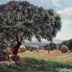 Arte: JOSEP Mª VILA CAÑELLAS (1913 - 2001) OLEO SOBRE TELA. VISTA DE UN PAISAJE RURAL. Lote 273267403