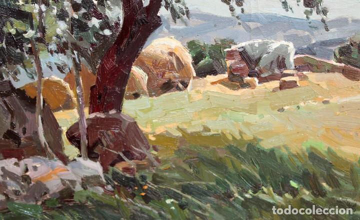 Arte: JOSEP Mª VILA CAÑELLAS (1913 - 2001) OLEO SOBRE TELA. VISTA DE UN PAISAJE RURAL - Foto 4 - 273267403