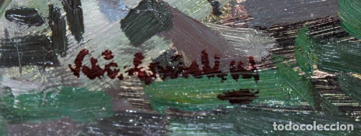 Arte: JOSEP Mª VILA CAÑELLAS (1913 - 2001) OLEO SOBRE TELA. VISTA DE UN PAISAJE RURAL - Foto 7 - 273267403