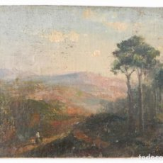 "Arte: JOSEP BERGA I BOIX (1837-1914). PAISAJE ""ESCUELA D'OLOT"".. Lote 273423488"