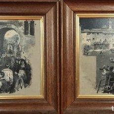 Art: FIESTAS POPULARES. ANSELMO GASCÓN DE GOTOR. ÓLEOS SOBRE TABLA. SIGLO XIX-XX.. Lote 273634798