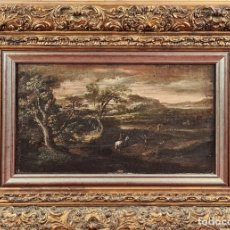 Arte: ESCENA DE CAZA. ESCUELA DE JOOS DE MOMPER. ESCUELA FLAMENCA. O/T. SIGLO XVI-XVII.. Lote 273644128