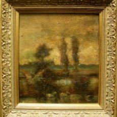 Arte: TITO CITTADINI (BUENOS AIRES 1886 - POLLENÇA 1960). ÓLEO/TABLA 21 X 19 CM. PAISAJE MALLORCA. FIRMADO. Lote 274027548