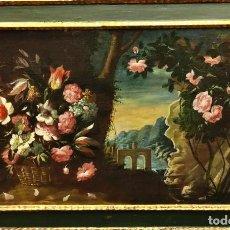 Arte: ÓLEO SOBRE LIENZO - BODEGÓN FLORAL ITALIANO, S.XVIII. Lote 274253373