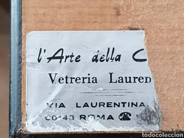 Arte: PASTOR CON VACAS Y OVEJAS - ESCUELA ITALIANA DEL XVIII - 35 X 41 CM. - Foto 9 - 274352483