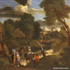 Arte: PINTURA DE PAISAJE FLAMENCA ANTIGUA DEL SIGLO XVIII. Lote 274559273