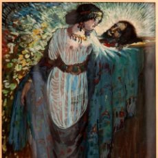 Art: AGUSTI FERRE PINOS (SITGES 1884 - 1960) - FERRER PINO - SALOME - ORIGINAL A GOAUCHE - C. 1920. Lote 274753563