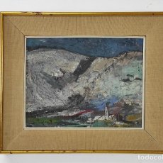 Arte: JAUME MUXART DOMÉNECH (MARTORELL 1922- BARCELONA 2009) - MONTAÑAS CASA - SALA GASPAR - 12-1-60. Lote 275067653