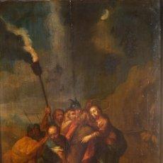Arte: ÓLEO SOBRE TABLA PRENDIMIENTO DE JESÚS ESCUELA FLAMENCA SIGLO XVII-XVIII. Lote 275134048
