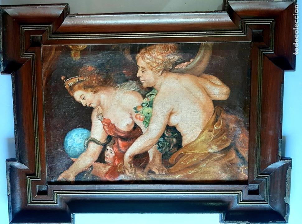 PRECIOSA PINTURA DE MUSEO , OLEO SOBRE LIENZO , DIOSAS MITOLOGICAS (Arte - Pintura - Pintura al Óleo Moderna sin fecha definida)