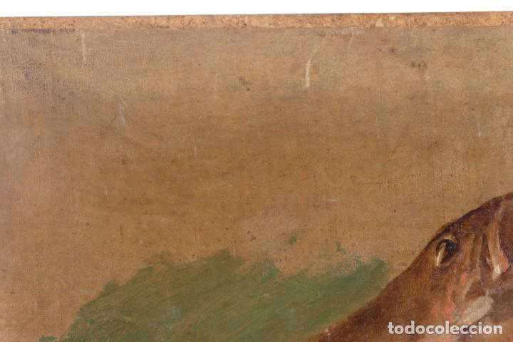 Arte: Óleo sobre lienzo pegado a táblex Pescados siglo XIX - Foto 3 - 275289813