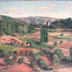 Arte: J. DE CABANYES (S.XX) PAISAJE ÓLEO SOBRE ARPILLERA. Lote 275446918