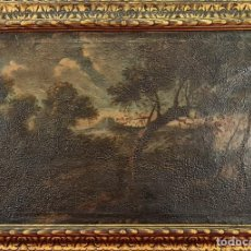 Arte: PAISAJE RURAL. ANONIMO. ÓLEO SOBRE LIENZO. MARCO DORADO. SIGLO XVII-XVIII.. Lote 275499083