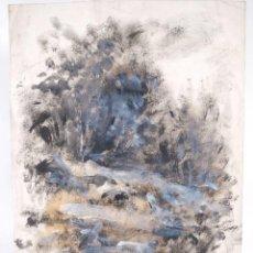 Arte: ÓLEO SOBRE PAPEL COMPOSICIÓN FIRMADO R.BATALLÉ MALLARACH 1985. Lote 275536858