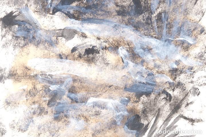 Arte: Óleo sobre papel Composición firmado R.Batallé Mallarach 1985 - Foto 2 - 275536858