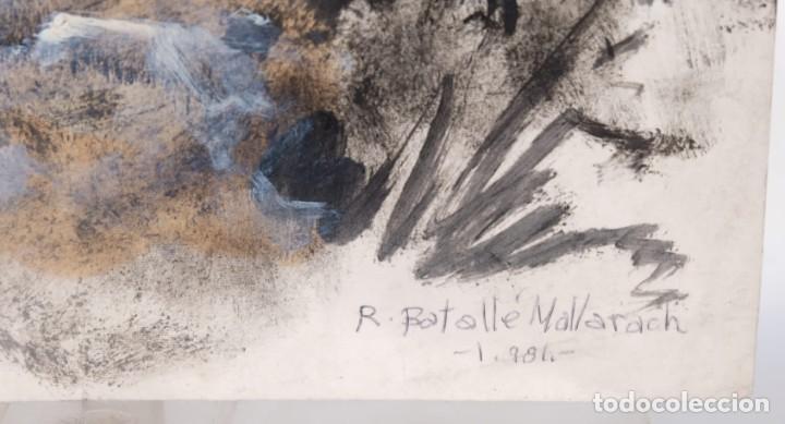Arte: Óleo sobre papel Composición firmado R.Batallé Mallarach 1985 - Foto 3 - 275536858