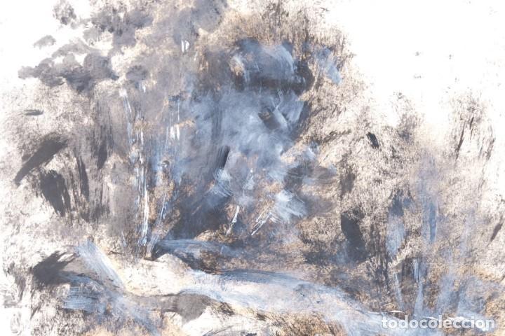 Arte: Óleo sobre papel Composición firmado R.Batallé Mallarach 1985 - Foto 4 - 275536858
