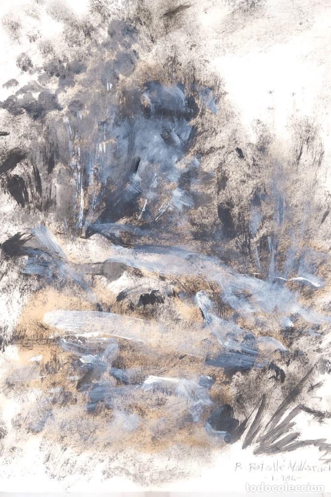 Arte: Óleo sobre papel Composición firmado R.Batallé Mallarach 1985 - Foto 5 - 275536858