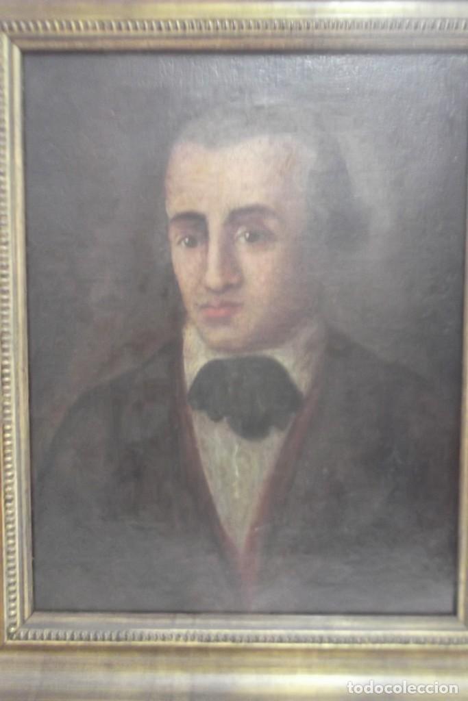 PINTURA AL OLEO SOBRE LIENZO ,SIGLO XVIII,PERSONAJE (Arte - Pintura - Pintura al Óleo Antigua siglo XVIII)