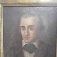 Arte: PINTURA AL OLEO SOBRE LIENZO ,SIGLO XVIII,PERSONAJE. Lote 275558083