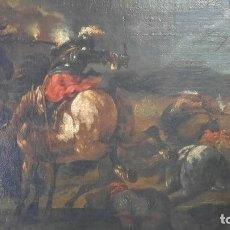 Arte: MAGNIFICO OLEO SOBRE LIENZO SIGLO XVIII ,183CM POR 73CM JAQUES COURTOIS IL BORGOGNONE 1621-1676. Lote 275648933
