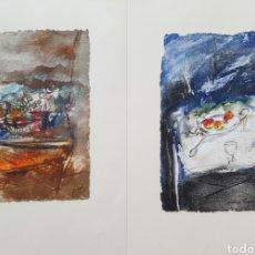 Arte: JORDI ANDREU FRESQUET (BADALONA, 1940) - PAREJA DE BODEGONES SOBRE MESA.OLEOS.FIRMADOS.. Lote 273719473