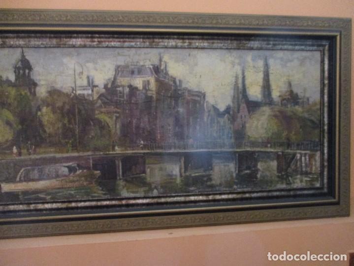 Arte: Cuadro de Antonio de la Peña, junto a la Ria de Bilbao - Foto 3 - 275749243
