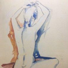 Arte: BONITO DESNUDO PINTURA MIXTA EN TABLA FIRMADA POR AUTOR. Lote 275750163