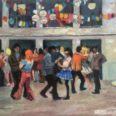 Arte: RAMÓN DE CAPMANY I DE MONTANER (1899-1992) - EL GUATEQUE - ÓLEO TABLEX. Lote 275757673
