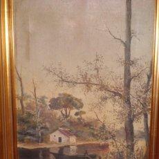 Arte: PAREJA DE PAISAJES ANTIGUOS, AÑO 1.902. Lote 275781313