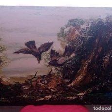 Arte: HERMOSA PINTURA HORIZONTAL. EL NIDO. ÓLEO SOBRE LIENZO.73CM X 54CM. Lote 275785433