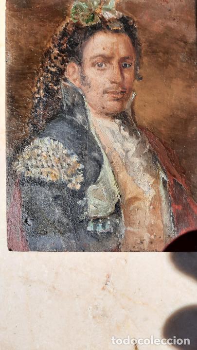 MAGNIFICA PINTURA GOYESCA PRINCIPIOS DEL 1800 OLEO SOBRE TABLA ,PEQUEÑO FORMATO,MANO MAESTRA (Arte - Pintura - Pintura al Óleo Antigua siglo XVIII)