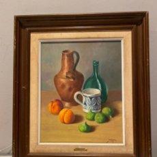 Arte: JORDI PONS - BODEGÓN SOBRE LIENZO. Lote 275861038