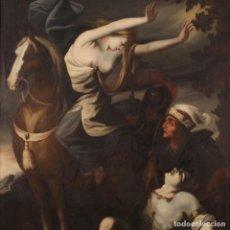 Arte: ANTIGUA PINTURA ITALIANA ERMINIA ENCUENTRA A TANCREDI HERIDO DEL SIGLO XVIII. Lote 275898823