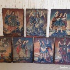 Arte: COLECCION DE ARCANGELES SIETE OLEOS SOBRE LIENZO PINTURA CUZQUEÑA S.XVIII. Lote 275983913
