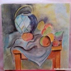 Arte: HERMOSA PINTURA BODEGÓN CON COLORES SUAVES. MUY VISTOSO. TÉCNICA MIXTA SOBRE TABLA. 40CM X 40CM.. Lote 276027858