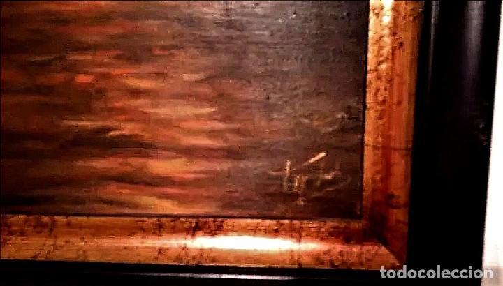 Arte: ATARDECER EN EL MAR AUTOR ILEGIBLE S.XX - Foto 4 - 276148548