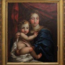 Arte: VICENTE LÓPEZ PORTAÑA (1772-1850) VIRGEN CON EL NIÑO JESÚS. O/L. Lote 276181893