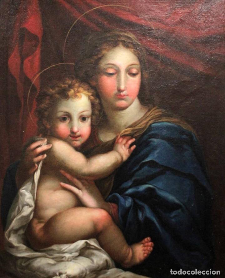 Arte: Vicente López Portaña (1772-1850) Virgen con el niño Jesús. O/L - Foto 2 - 276181893